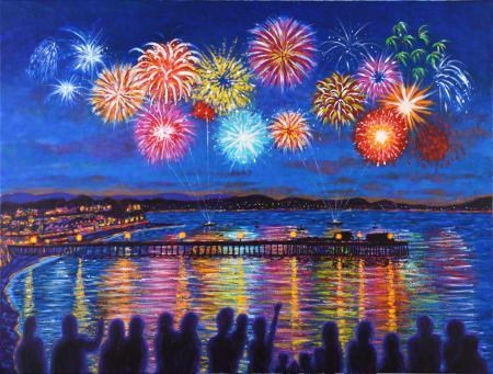 Fireworks over Capitola Wharf