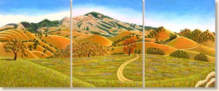 Diablo Foothills Triptych