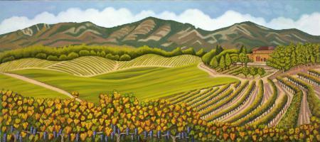 Wine Country Panorama