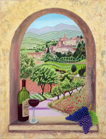 Arched Window in Tuscany, Image Number: 701